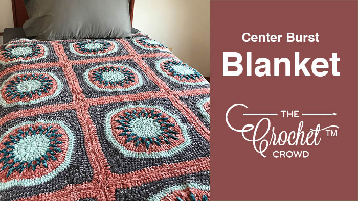 Crochet Center Burst Afghan