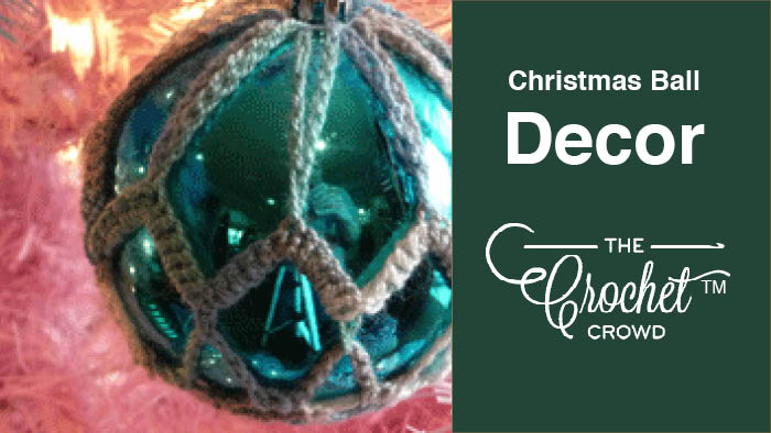 Crochet Christmas Ball Decor