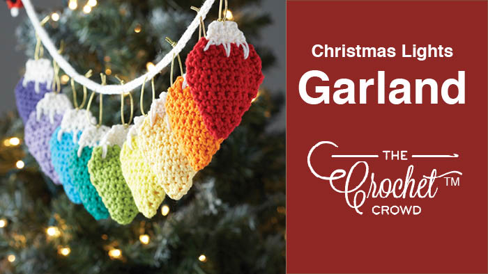 Crochet Christmas Lights Garland