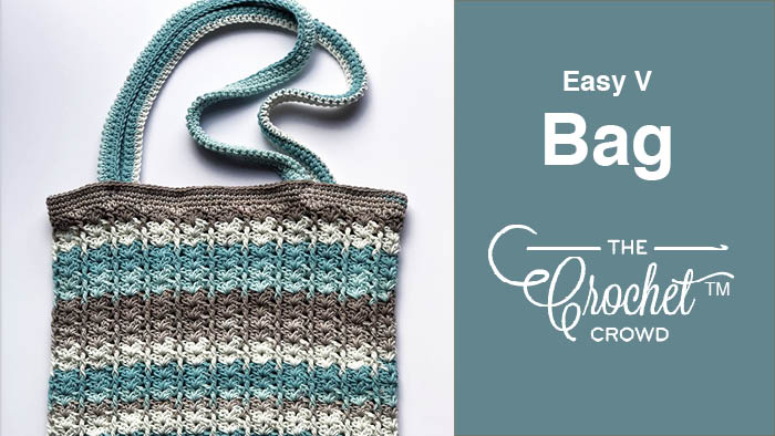 Crochet Easy V Bag