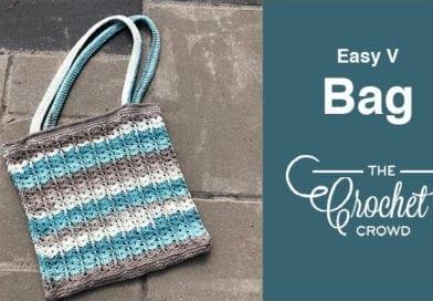 Crochet Easy V Bag