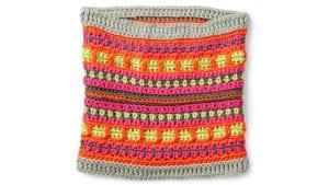 Caron x Pantone: Fair Isle Crochet Cowl