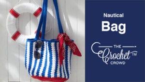 Crochet Nautical Bag