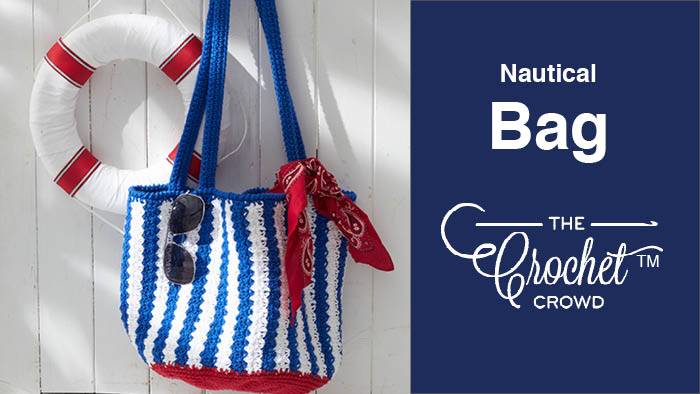 Crochet Nautical Bag