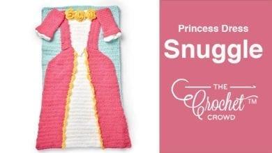 Crochet Princess Dress Snuggle Sack