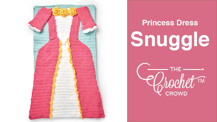 Crochet Princess Dress Snuggle Sack