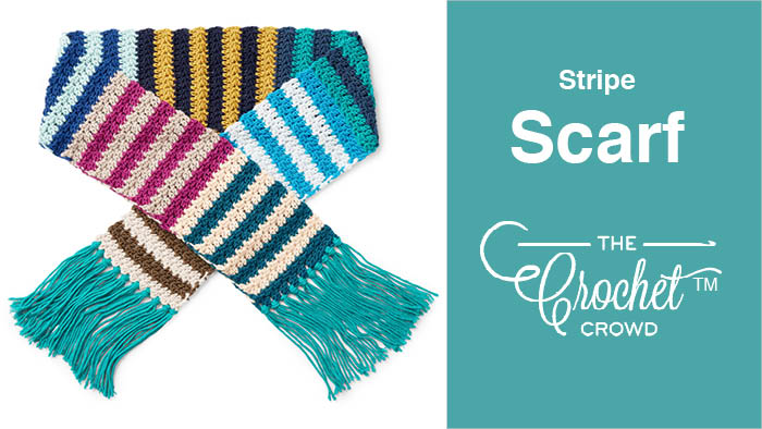 Caron X Pantone Striped Scarf Tutorial The Crochet Crowd
