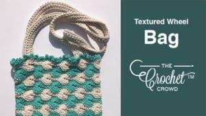 Crochet Textured Wheel Bag