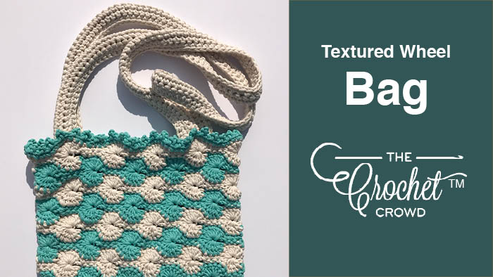 Crochet Textured Wheel Bag