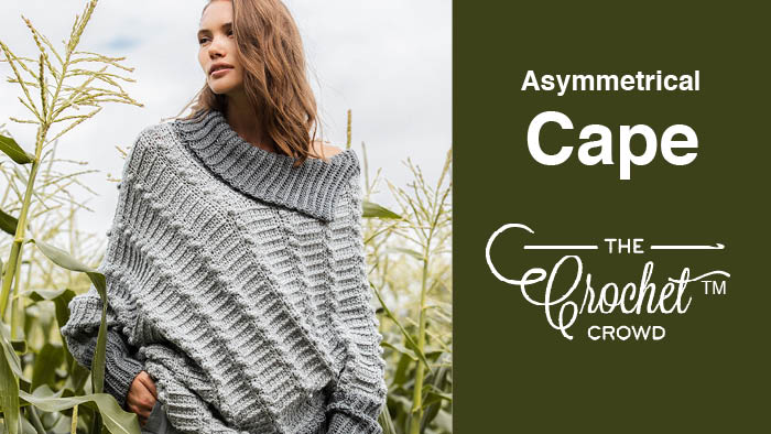Crochet Asymmetrical Cape