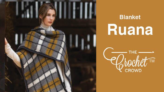 Crochet Blanket Plaid Ruana Pattern