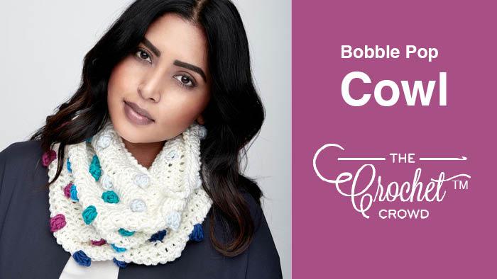 Crochet Bobble Colour Pop Cowl Pattern