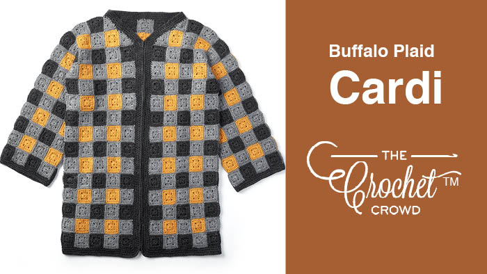 Crochet Buffalo Plaid Cardigan Pattern