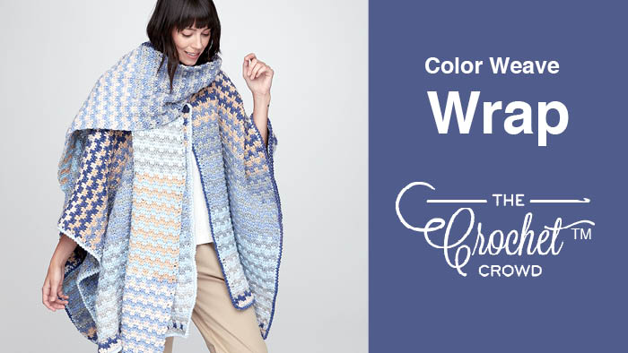 Crochet Colour Weave Wrap Pattern