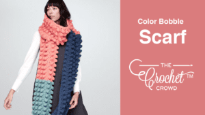 Crochet Colour Bobble Scarf