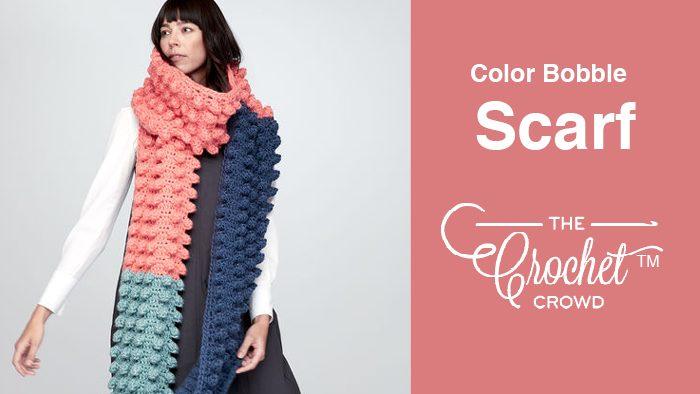 Crochet Shockingly Big Bobble Scarf Pattern