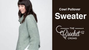 Crochet Cowl Pull Over Sweater