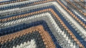 Crochet Beans and Bobbles Mitered Blanket