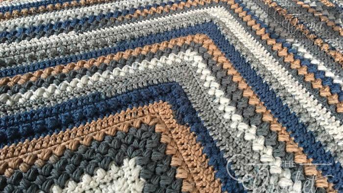 Crochet Beans & Bobbles Mitered Afghan