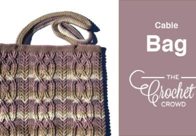 Crochet Cable Bag