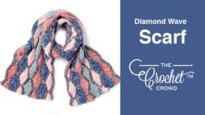 Crochet Diamond Wave Scarf