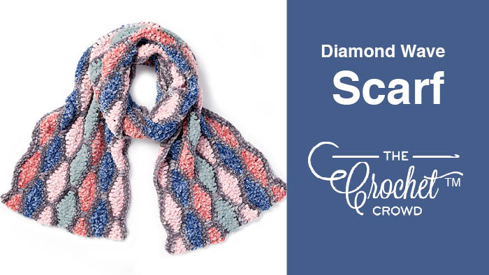 Crochet Diamond Wave Scarf Pattern + Tutorial
