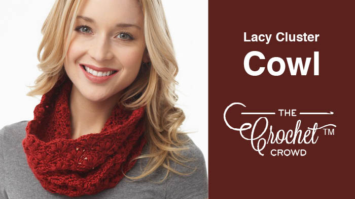 Crochet Lacy Cluster Cowl