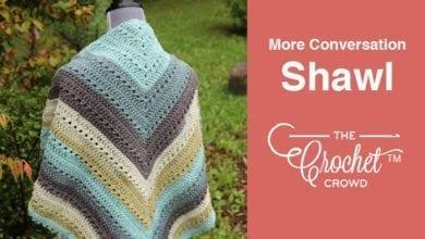 Crochet More Conversation Shawl