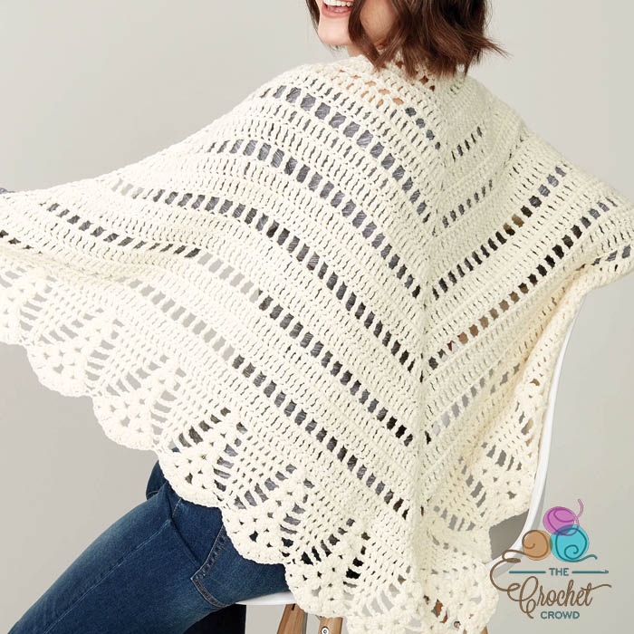 Crochet Prayer Shawl + Tutorial - The Crochet Crowd®