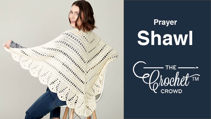 Crochet Prayer Shawl + Tutorial | The Crochet Crowd