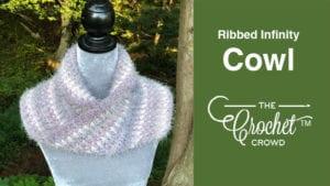 Crochet Caron Latte Cakes Ribbed Infinity Cowl
