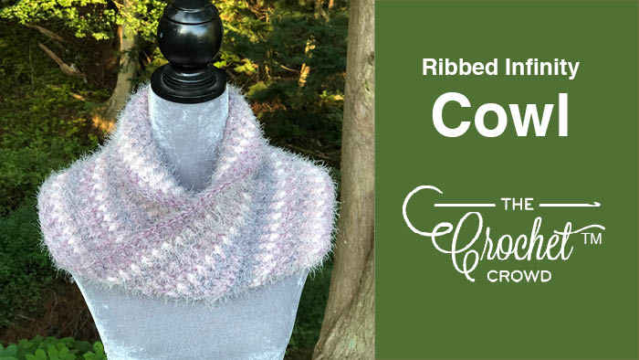 Crochet Caron Latte Cakes Ribbed Infinity Cowl