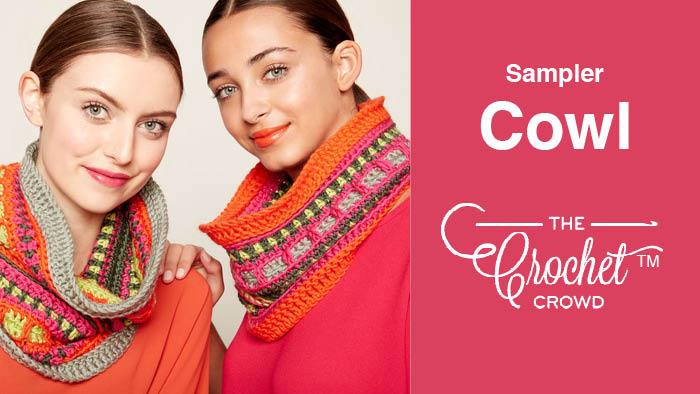 Crochet Sampler Cowl