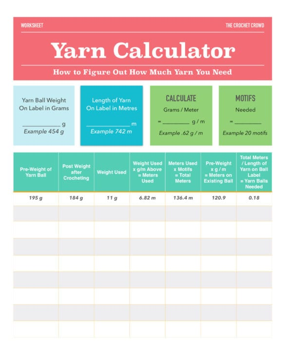 Yarn Ball Calculator