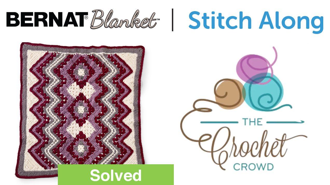 Crochet Bernat Blanket Stitch Along