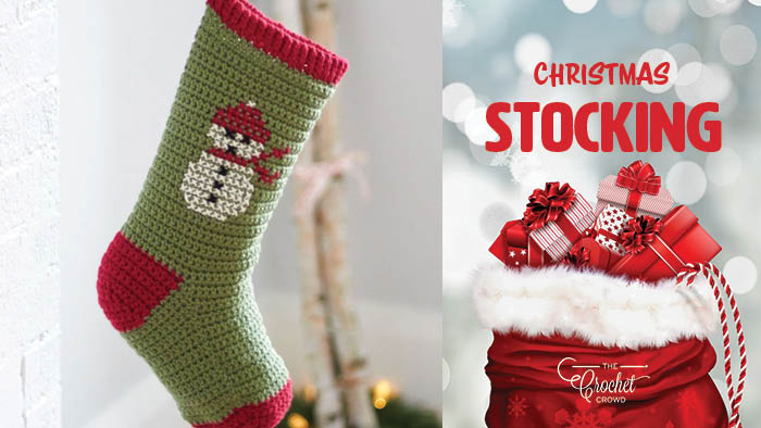 Crochet Christmas Stocking.Crochet Christmas Stocking Tutorial The Crochet Crowd