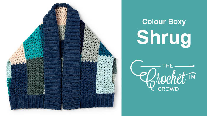 Crochet Color Boxy Shrug