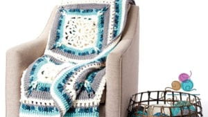 Crochet Country Snow Window Close Up