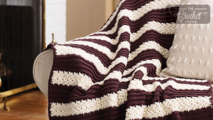 Crochet Herringbone Stitch Afghan + Tutorial | The Crochet Crowd