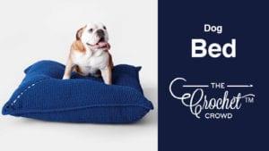 Crochet Dog Bed