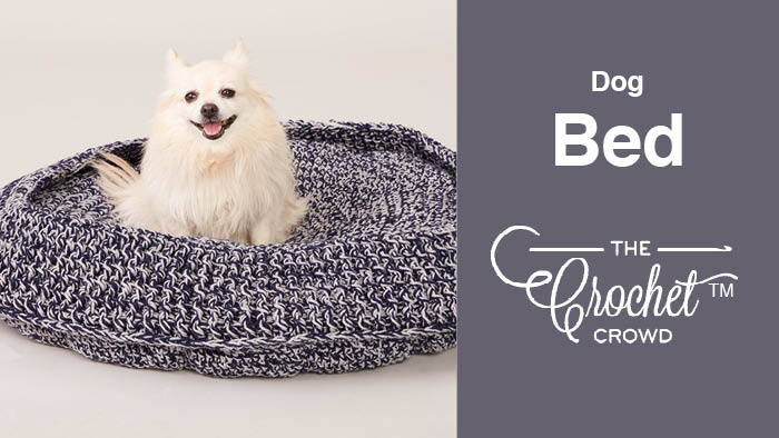 Crochet Dog or Cat Bed