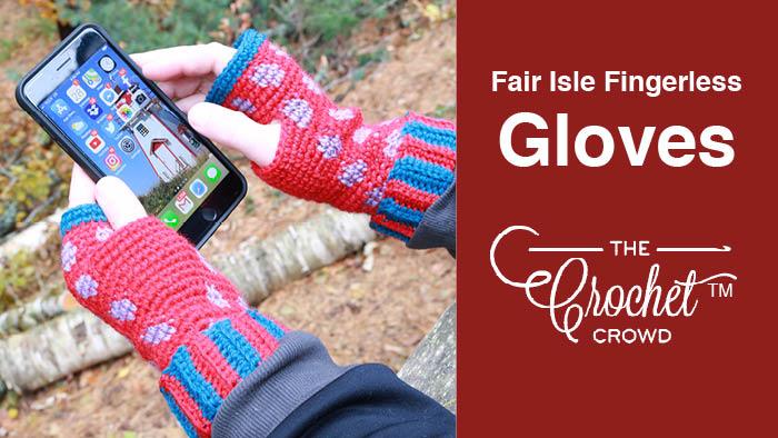 Crochet Texting Gloves Pattern