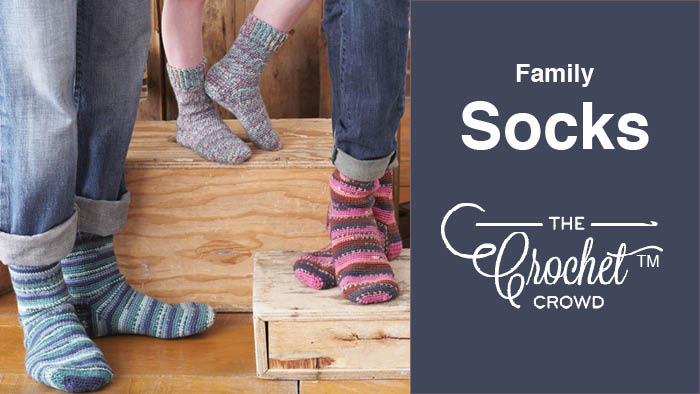 Crochet Family Socks Pattern