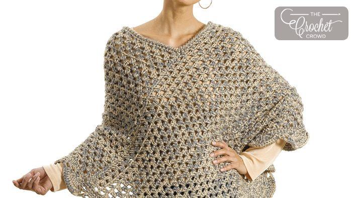 Crochet The Gift Poncho + Tutorial   The Crochet Crowd