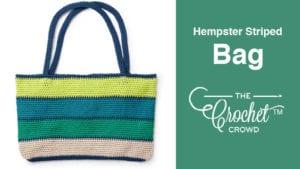 Crochet Hempster Striped Bag