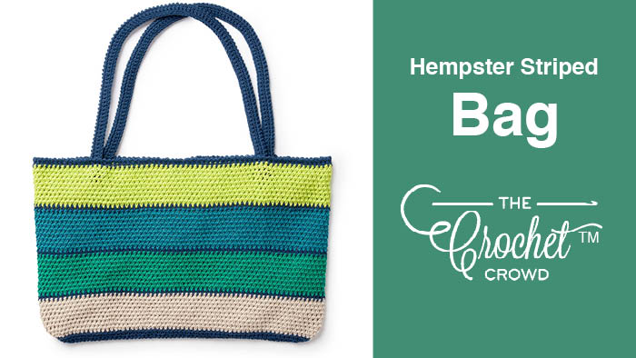 Crochet Hempster Striped Bag