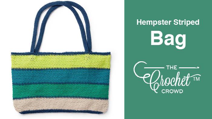 Crochet Striped Bag Pattern