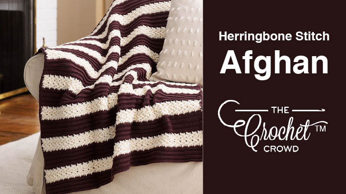 Crochet Herringbone Stitch Afghan