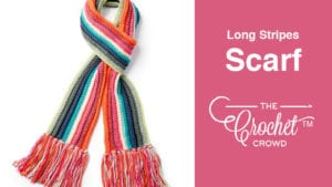 Crochet Long Stripes Scarf