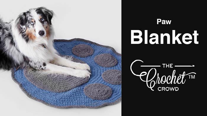 Crochet Paw Blanket
